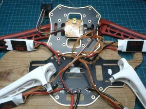 Nerplockad F450 för att rotera bottenplattan 45 grader